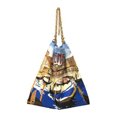 anita venezia printed silk bag